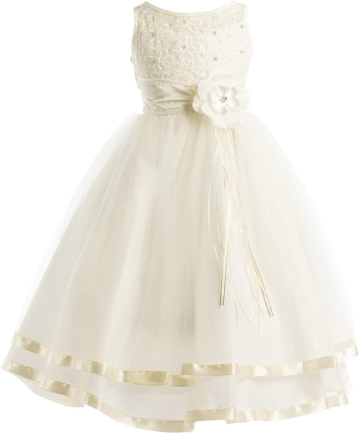 5 Colors Communion OFFer Flower Girl Illusion Ribbon Dre Tulle Pageant New York Mall
