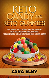 Keto Candy and Keto Gummies: Low Carb Keto Snacks, Desserts, and Treats Including Sugar Free Candy, Gummy Bears, and Sweet...