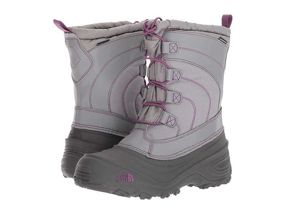 The North Face Kids Alpenglow IV (Toddler/Little Kid/Big Kid) (Frost Grey/Wood Violet) Girls Shoes