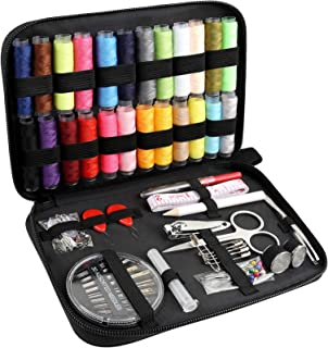 Sewing Kit - DIY Sewing Supplies Organizer with Sewing Needles, Scissors, Thimble, Thread, Pins, Tweezers and Others Sew K...