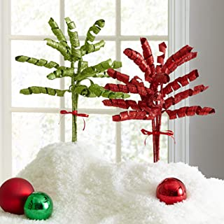 BrylaneHome Curly Tree Picks, Set of 5 - Green