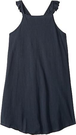Super Soft Ruffle V-Back Cami Shirttail Dress (Little Kids/Big Kids)
