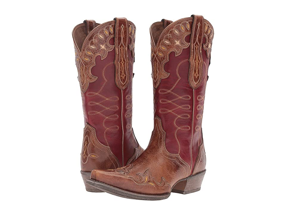Ariat Zealous (Gingersnap/Rosy Red) Cowboy Boots