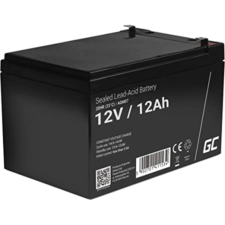 Batterie au Gel Plomb AGM 12V 1.2Ah Sans entretien pour Télécommunications