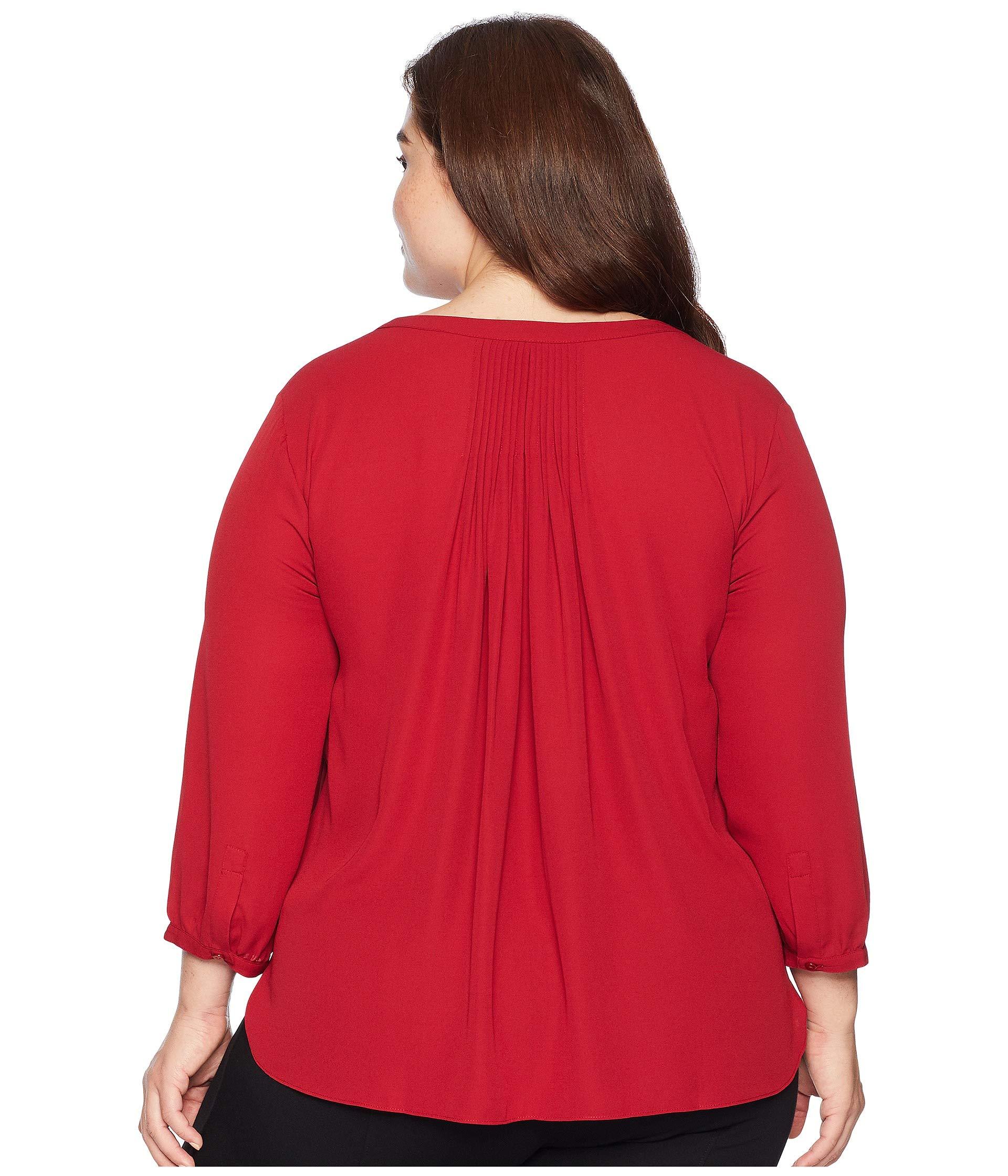Plus Blouse Size Nydj Pintuck Gooseberry UaAwa6qd