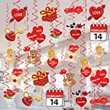 Valentines Day Decorations Hanging Swirls - 36 PCS Tifeson Conversation Heart Teddy Bear Cupid Valentines Day Swirls Ceiling Decorations Hanging Decor - Valentine's Day Party Decorations Supplies