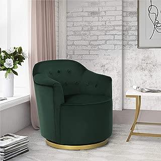 Novogratz DL8452-GN Azalea Swivel Lounge Chair, Green