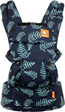 Baby Tula Explore Baby Carrier 7 – 45 lb, Adjustable Newborn to Toddler Carrier, Multiple Ergonomic Positions, Front and Back Carry, Easy-to-Use, Lightweight – Everblue, Blue with Teal Fern Leaves