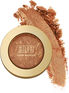 Milani Baked Bronzer - Dolce, Cruelty-Free Shimmer Bronzing Powder to Use For Contour Makeup, Highlighters Makeup, Bronzer Makeup, 0.25 Ounce