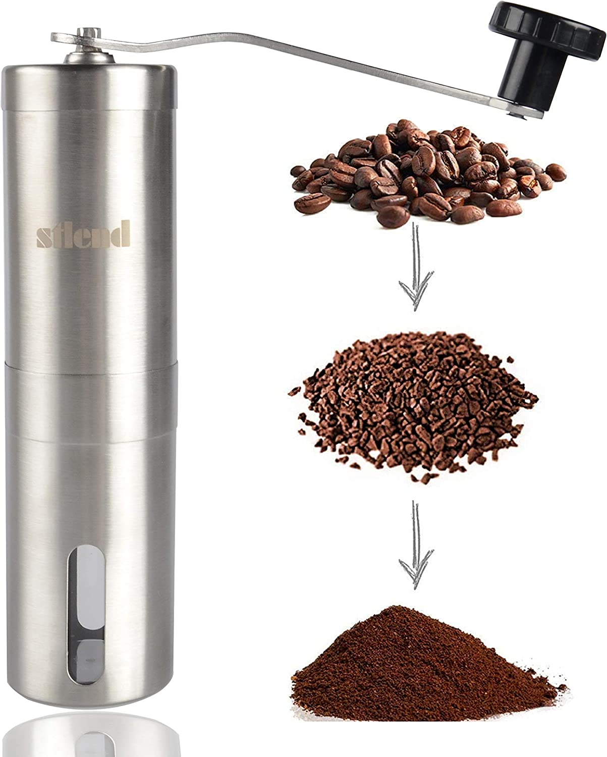 Max 56% OFF S-Tang Manual Coffee Grinder with National products Adjustable - B Setting Conical