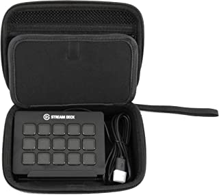 CASEMATIX Travel Case Compatible with Elgato Stream Deck and Adjustable Stand with Accessories, Travel Case Only