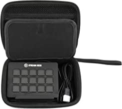 CASEMATIX Travel Case Compatible with Elgato Stream Deck and Adjustable Stand, Game Capture HD60, Chat Link and Video Game Accessories - Case Only