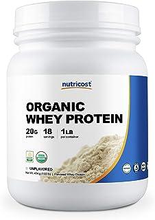 Nutricost Organic Whey Protein Powder (Unflavored) 1 LB - Non-GMO