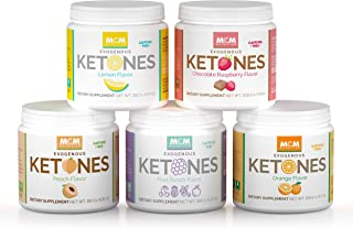 MCM Nutrition Ketones Variety Pack – Exogenous Ketones Supplement & BHB - Caffeine-Free, Ketone Drink for Ketosis - Instant Keto Mix, Quick Ketosis & Helps with The Keto Diet (5 Jars - 75 Servings)