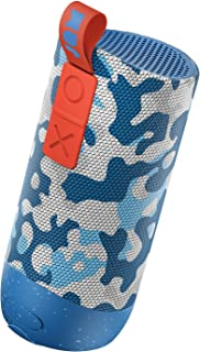Zero Chill, Pairable Bluetooth Speaker | 100 ft. Range, Waterproof, 22 Hour Playtime, Dust-Proof, Drop-Proof IP67 Rating | Built-in Speakerphone, Aux-In Port, USB Charging | JAM Audio Camo