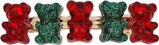 Festive Gummy Bear Hair Clip, red & Green (339922GLD966)