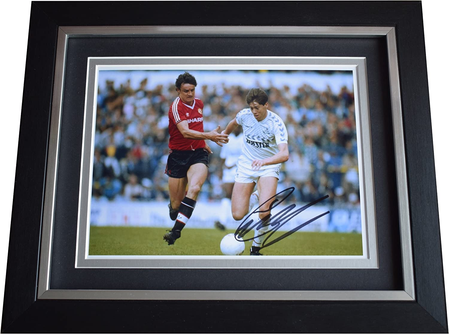 Sportagraphs Chris Waddle SIGNED 10x8 FRAMED Photo Autograph Display Tottenham Football COA PERFECT GIFT