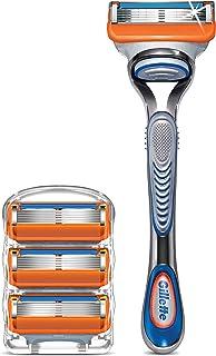 Gillette Fusion5 Men's Razor Handle + 4 Blade Refills