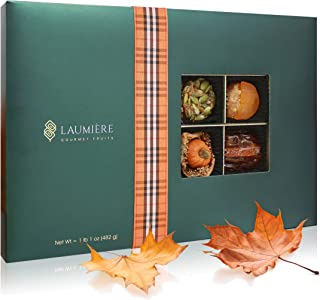 The Gourmet Fall Collection | Rectangle Box (24 Pieces) | Limited Edition Gift Assortment | Fall Inspired Treats, Miniatures, Candies and Pumpkin Spiced Handcrafted Recipes | Laumiere