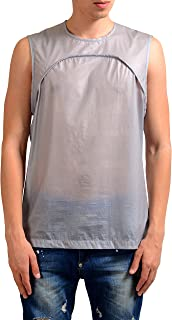 Men's Gray Coated Linen Tank Top