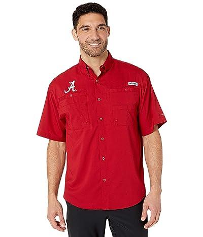 Columbia College Alabama Crimson Tide Collegiate Tamiami II Short Sleeve Shirt (Red Velvet) Men