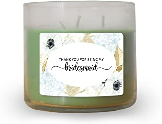 Thank you for being My Bridesmaid, Maid of Honor, Matron of Honor, Candle Label by LoveAtEverySight |Bridesmaid Candle Label-