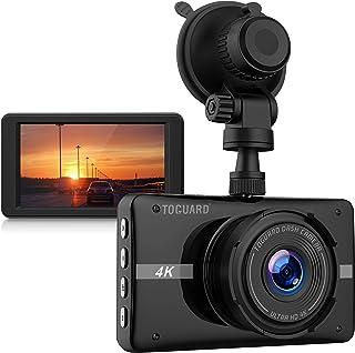 TOGUARD Cámara de Coche 4K Ultra HD Dash Cam 3 LCD Grande Ángulo de 170° Cámara para Coche con Grabación en Bucle Sensor G Monitor de Estacionamiento