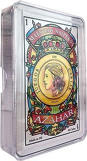comprar comparacion Maestros Naiperos- baraja, española, 50, cartas, estuche de plástico, calidad casino, Color azul o rojo. envío aleatorio (...