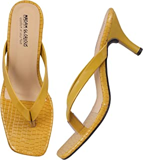Madam Glorious heels for women's/girls stylish v-shapesandal padded soft casual comfortable casual slip-on