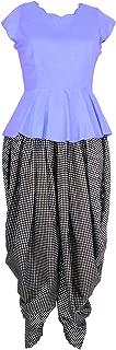 Patrorna Blended Women's Blouson Peplum Top and Dhoti Pant Set (Size XS-7XL, GR647810)
