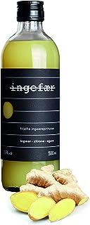 Ingefaer Ingwer Schnaps 25% aus destilliertem Ingwer, Zitronensaft mit Agave - Ingwershot, Ingwerlikör Alternative – Handcrafted Heimat Destille 1 x 0,5l