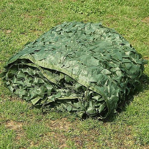 Qjifangzyp Auvent de terrasse Filet de Prougeection en Filet Oxford Adapté Aux Enfants du Camping Armée Cachée Vert Filet de Camouflage Filet de Prougeection Solaire (Taille   5  6M)