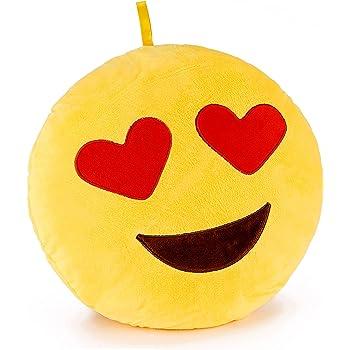 Brubaker Coussin En Peluche Emoticone Emoji 30 Cm Amoureux Yeux En Forme De Cœur Amazon Fr Cuisine Maison