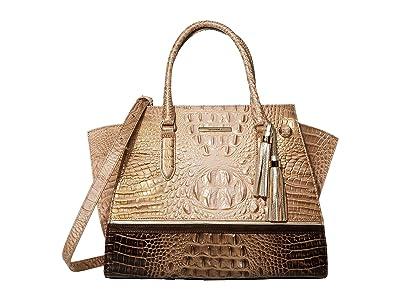 Brahmin Roseleaf Priscilla Satchel (Chiffon) Handbags