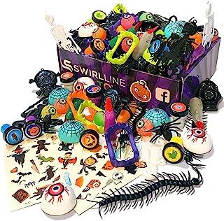 S SWIRLLINE Halloween Party Favors Trinkets Kids - Carnival Prizes Toys Bulk - Pinata Filler Toy Assortment - Halloween Tr...