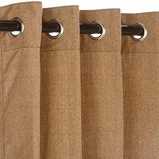 Pawleys Island Hammocks Sunbrella Outdoor Curtain with Nickle Grommets - Linen Sesame 50x108