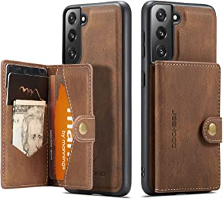MOHEYO Compatible with Samsung Galaxy S21+ Plus 5G Case Wallet Vegan Leather 2-in-1 Magnetic Detachable Removable Card Hol...