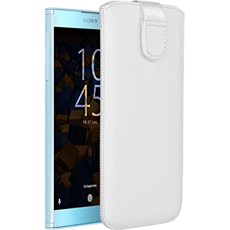Mumbi Echt Ledertasche Kompatibel Mit Sony Xperia 5 Hülle Leder Tasche Case Wallet Weiss Elektronik