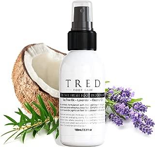 Tea Tree Oil Fresh Foot Deodorant | Deodorising Spray - Odor Eliminator, Essential Oils, 100% Safe for all Shoes & Feet types by Tred
