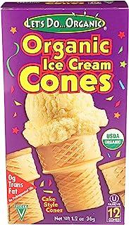 Lets Do, Cones Ice Cream Organic, 1.2 Ounce