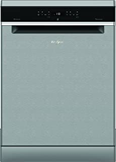 Whirlpool 11 programmes 14 Place settings Free standing Dishwasher, Stainless steel - WFO3P33DLXUK, 1 Year Warranty