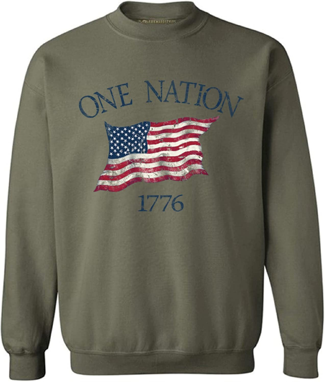 Superlatite Awkwardstyles USA Sale Special Price Flag One Nation 4th Crewneck Sweatsh July 1776