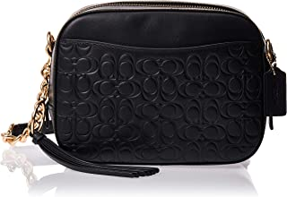 COACH Women's Signature Leather Camera Bag Gold/Black One Size