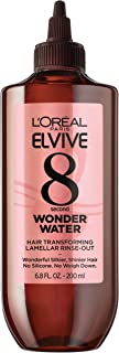 L'Oreal Paris Elvive 8 Second Wonder Water Lamellar, Rinse Out Moisturizing Hair Treatment for silky, shiny looking hair, 6.8 fl. oz.
