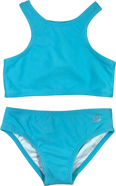 Ranking TOP2 SwimZip UPF 50+ Little Girl Sale SALE% OFF Multiple Colors Piece Halter 2