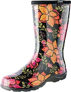 Sloggers 5018SSBK08 Spring Surprise Wo's Waterproof Comfort Boot, 8, Black
