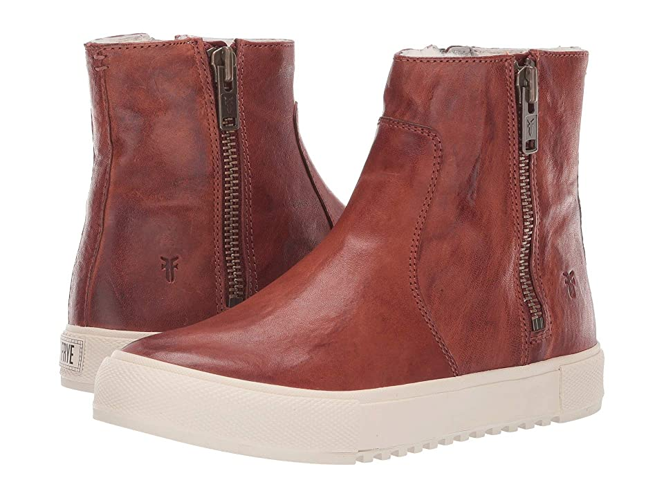 Frye Gia Lug Double Zip (Cognac/Shearling) Women