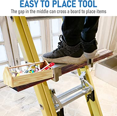 Sidasu Ladder Platform Multi-Function Adjustable Step Ladder Accessory Ladder Support up to 400LBS for Saving You Time and Re