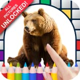 Bears Color by Number - No Ads Pixel Art Game - Coloring Book Pages - Happy, Creative & Relaxing - Paint & Crayon Palette - Zoom in & Tap to Color - Share Creations with Friends!
