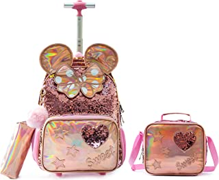 حقيبة مدرسية للأطفال، حقيبة ظهر للبنات مع تصميم مجسم، حقيبة ظهر مثالية للأطفال للسفر المدرسي، حقائب خفيفة الوزن للبنات، هد...
